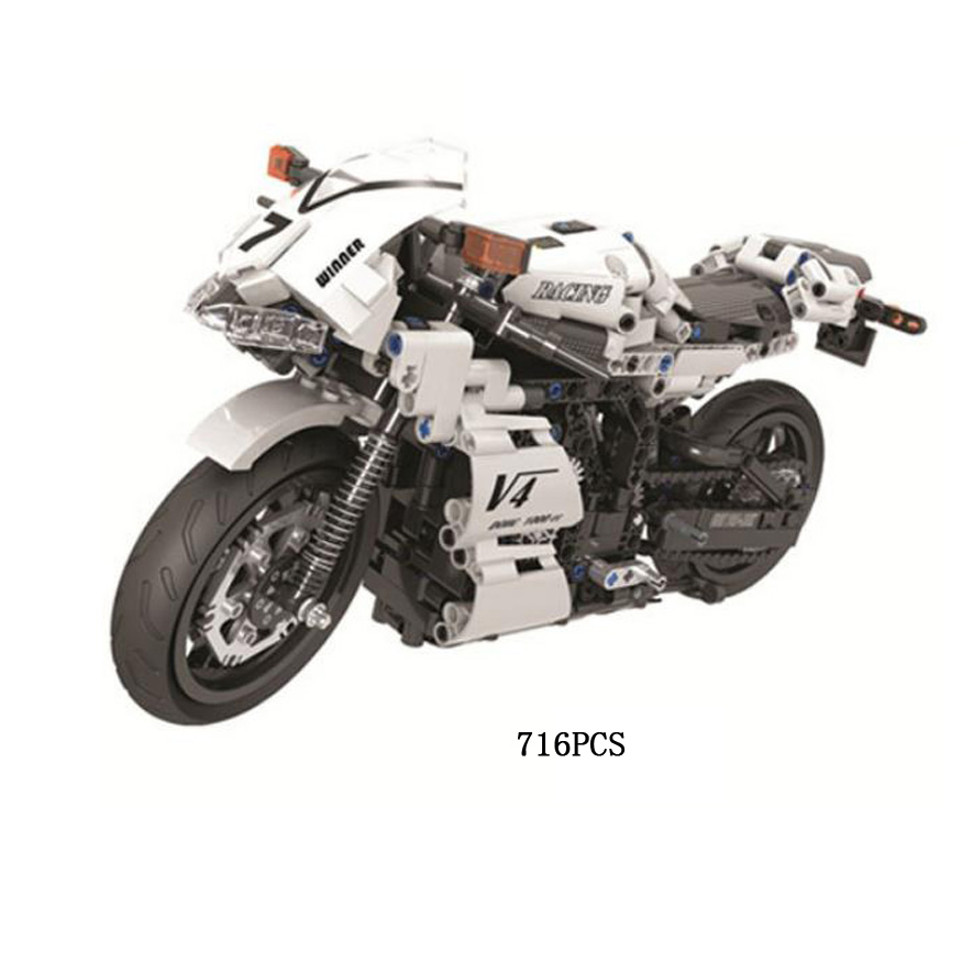 Simulation technics 1:6 scale V4 Speed Motorcycle moc building block assemable model bricks toys collection for adult kids giftsSimulation technics 1:6 scale V4 Speed Motorcycle moc building block assemable model bricks toys collection for adult kids gifts