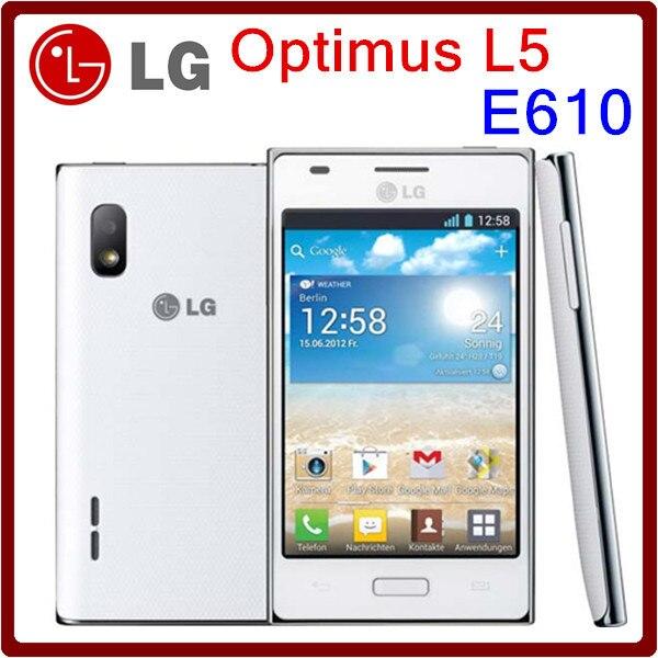 Original unlocked e610 lg optimus l5 e610 cellphone 5mp for Housse lg optimus l5 e610