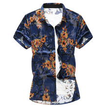 Chinese Style Men Shirt Short Sleeve Casual Streetwear Gold Velvet Flower New Camisa Social Business Dress