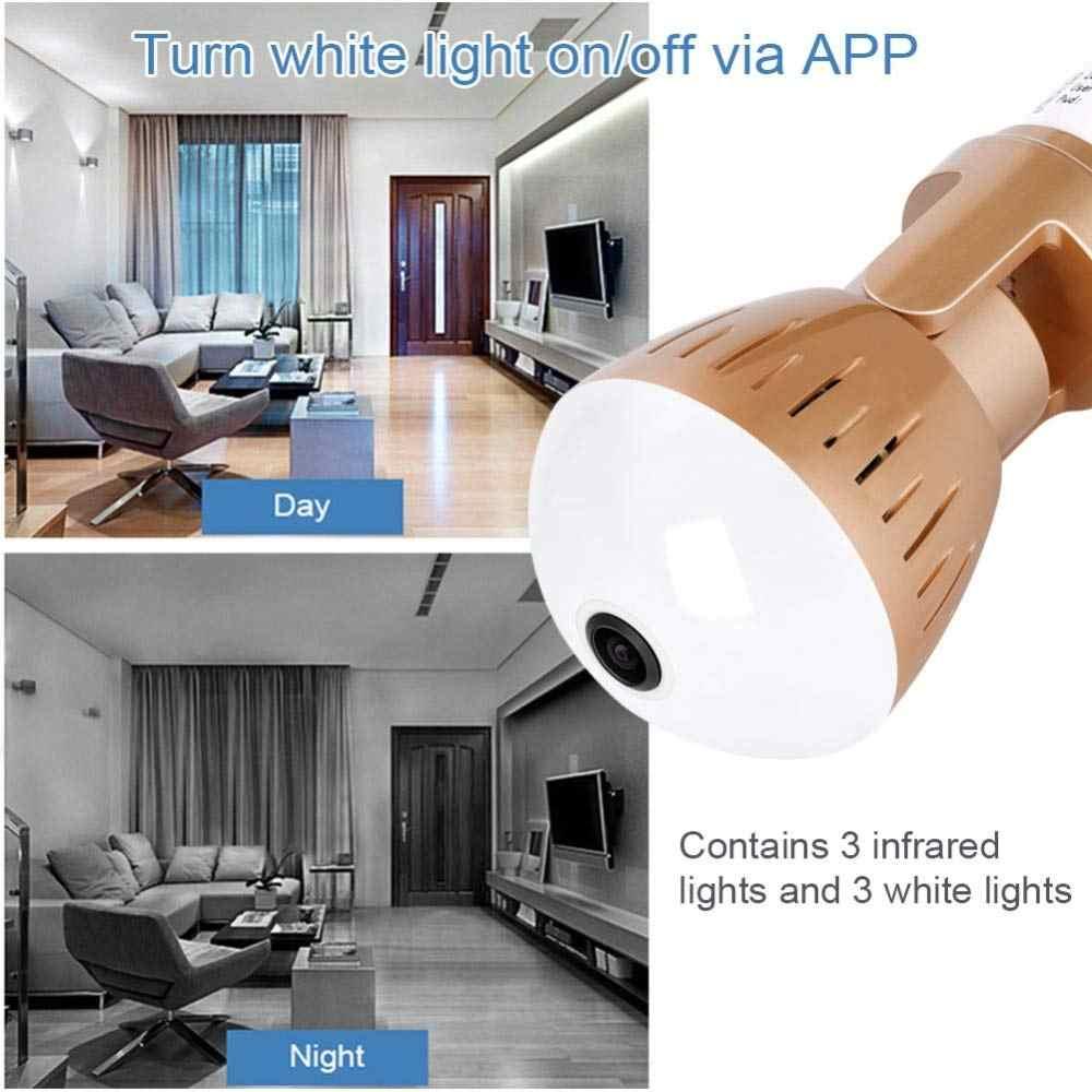 Новинка 360, видеокамера, лампа для обнаружения движения, умный светильник, камера s для домашней безопасности, 960 МП, P, панорамная, рыбий глаз, wifi, видеокамера