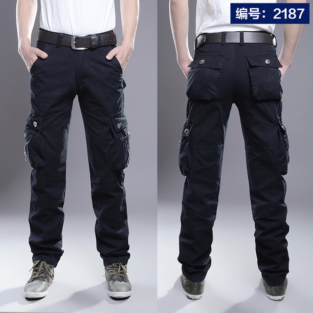 Cargo Pants Men Combat SWAT Army Military Pants Cotton Many Pockets Stretch Flexible Man Casual Trousers  Plus Size 28- 38 40 18