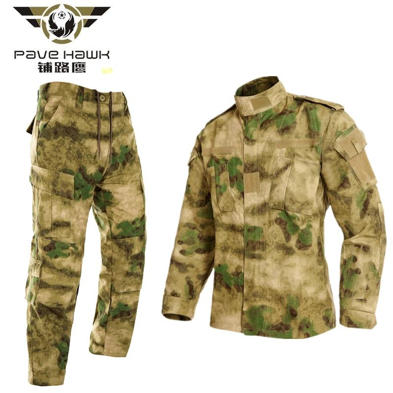 PAVEHAWK Lattice Woven Set Hiking Jackets Men Outdoor Sports Camping Trekking Military Tactical Pants Combat Cargo Camo Trousers