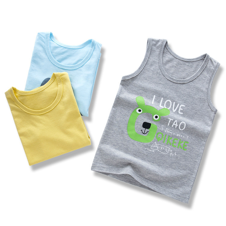 8d88de1feb27 Detail Feedback Questions about Summer Kids Cotton T Shirts Boys Girls Baby  Fashion Cartoon Printed Tank Camisoles 2 8 Years Children Clothing Gift on  ...