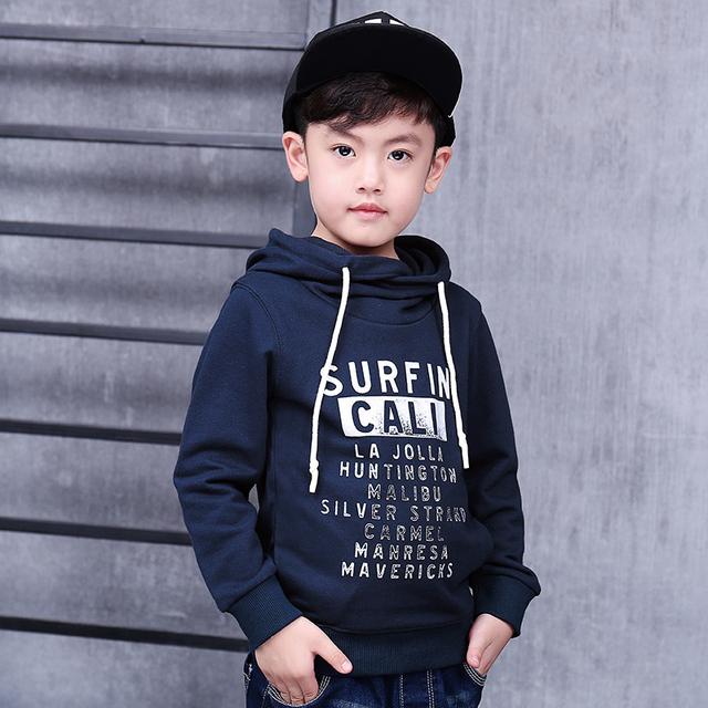 Pioneer crianças outono & primavera meninos camisas ativos longsleeve carta impressão pullover menino t camisa vestuário infantil roupa das crianças