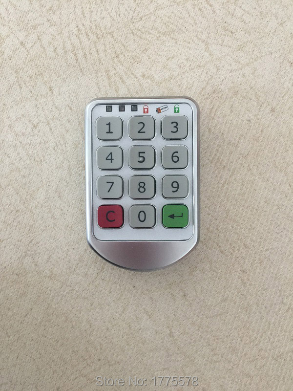 Silver Metal Digital Electronic Password Keypad Number Cabinet Code Locks Intelligent Cabinet Lock zc 109 4 bit number password lock safe cabinet lock metal shell unplugged mechanica password