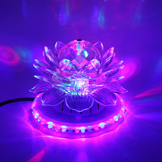 1055996254e RGB Led Luz de escenario Auto giratoria Bola de discoteca efecto mágico  Fiesta Club luces para
