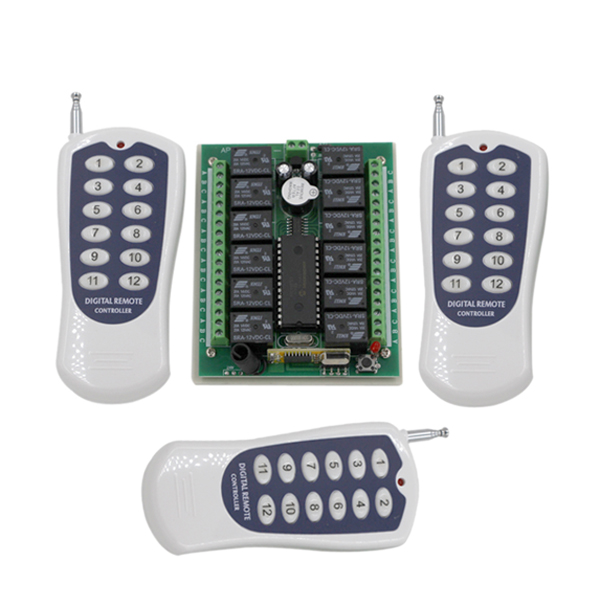 Remote Control Home Lighting: 12CH DC24V RF Home Automation Remote Control Switch