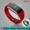 Controle de Música da moda Mergulho Pulseira De Fitness Rastreador Banda Monitor de Freqüência Cardíaca Pedômetro Inteligente Pulseira Smartband PK fitbits
