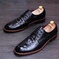 Fashion Genuine Leather Mens Shoes Casual Business Men Shoes, Brand Men Wedding Party Shoes Men's Dress Flats Shoes 4 Colors