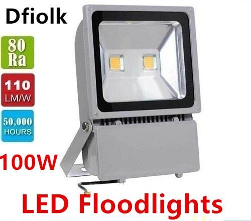 Free Shipping Led Floodlights Waterproof 100W Led Outdoor Flood Lights Led Landscape Lamp AC 85-265V f цена 2017