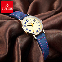 Original Brand Julius 856 Famous High Quality Watch Women Best Gift Leather Digital Fashion Wristwatch Drop