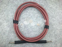 10ft Electric Guitar Cable Amp Lead Cord Amplifier Cable Audio Connection Cable Low Noise Shielded Red