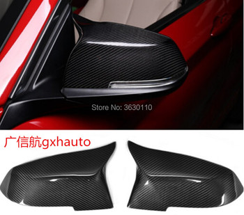 LOOK Carbon Fiber Mirror Cover for BMW 3 F30 2013 F21/F22/F31/F32/F33/F34/F35/F36 F20(2013/2015)/X3 Gloss Fiber Style
