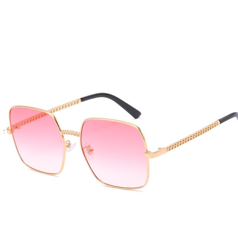 Square Sunglasses Ladies Luxury Brand Designer Sexy Woman Fashion 2019 Retro Metal Chain Sunglasses Shades for Women UV400 in Women 39 s Sunglasses from Apparel Accessories