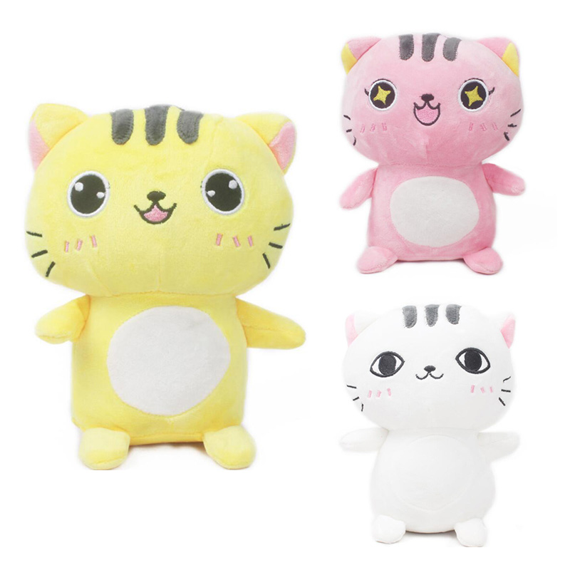 3Colors High Quality Cute Cat Soft Plush Toys For Children Bunny Accompany Stuffed Plush Animal Dolls Infants Toys Nice Gifts