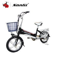 SONGI Lithium Battery Electric Bicycle 48V 2A 240W Electric Vehicle Portable For Men And Women Lightweight