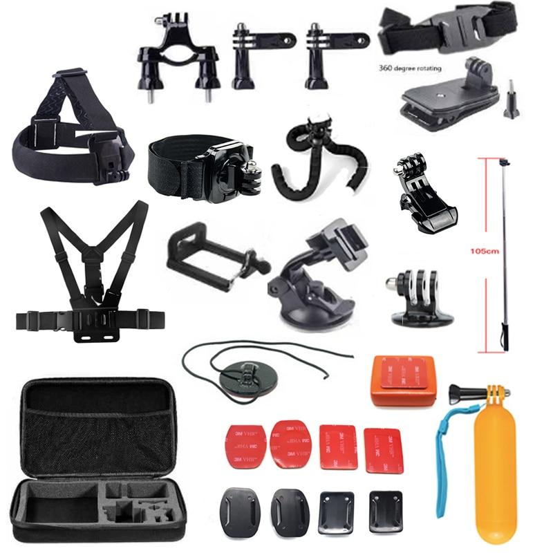 Teckam Action Camera Accessories Set for Gopro Hero 6 gopro hero 5 xiaomi yi action camera 4k yi 4k plus sjcam SJ7 Star Git up