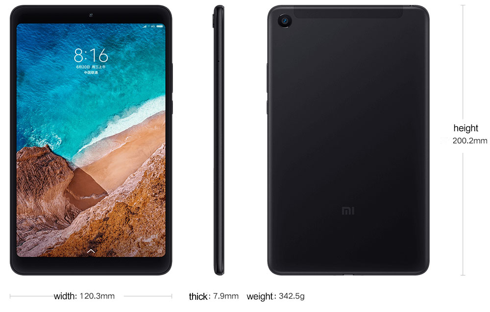Original Xiaomi Mi Pad 4 Teblets 8 1920x1200 FHD 13.0MP+5.0MP Dual Ca-mera 1610 Screen 32GB64GB Tablet 13MP Mi Pad 4 (13)