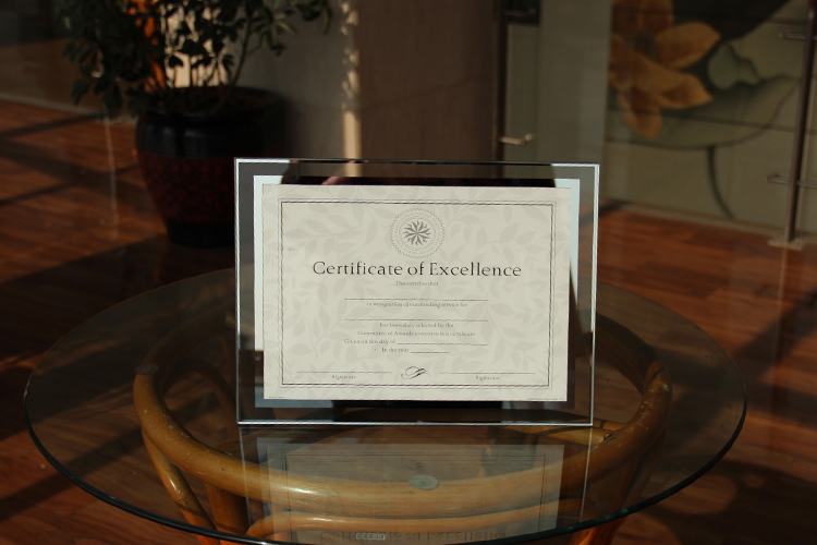 a4 vintage glass certificate photo frame simple design for business high quality you worth it