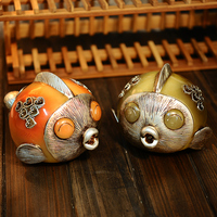 kiss fish ornaments Home Furnishing study the living room table decoration decoration personality resin handicraft shop