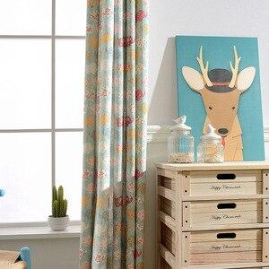 Image 4 - מודרני וילונות חיים חדר שינה חדר ילדים חדר מודרני מינימליסטי פוליאסטר כותנה הדפסת ילדי Cartoon בני בנות