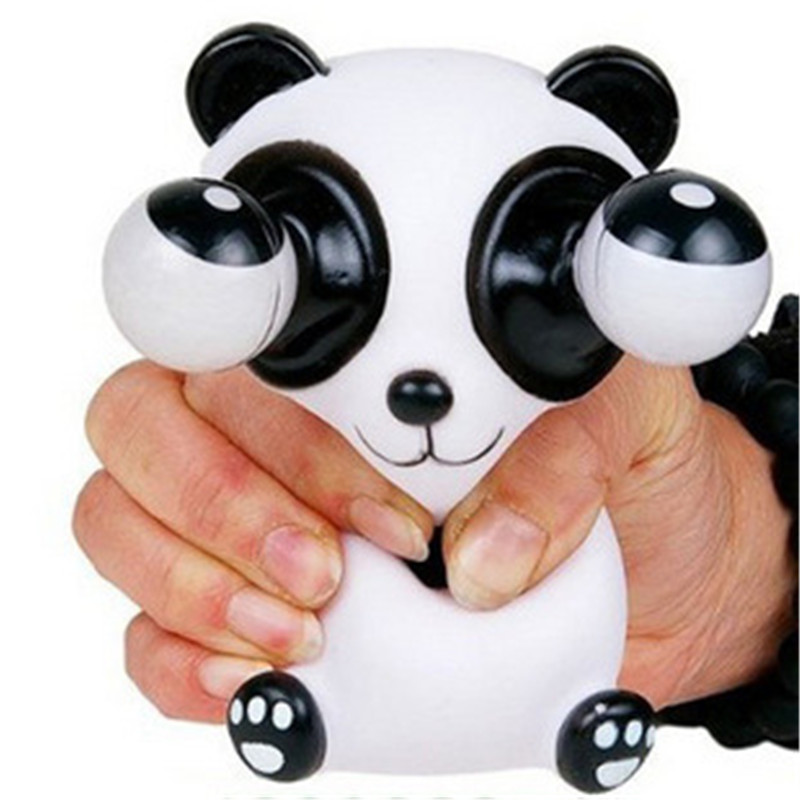 1Pcs Mini Animal Figure Doll Bulging Eyes Pop Out Eyes Stress Relief Balls Squeezable Toy Children Adult Anti-stress Toys