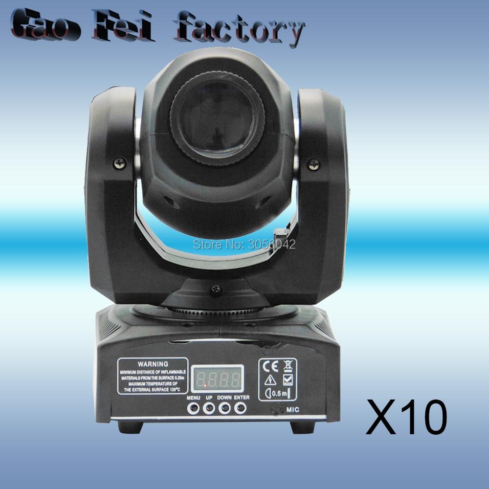 10pcs/lot 10w led Gobos Effect 8/11channels DMX512 spot light DJ equipment 10pcs lot richtek model code 10 10d 10g 10w 10 dfn 6