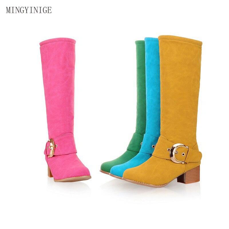 Mode femme automne et hiver chaud faux cuir Martin bottes chaud imperméable confortable neige botte laine mode fourrure haute
