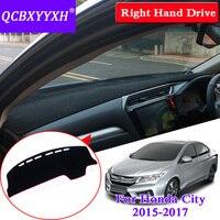 QCBXYYXH For Honda City 2015 2017 Right Hand Drive Dashboard Mat Protective Interior Photophobism Pad Shade