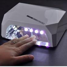 Sèche-ongles professionnel en forme de diamant, lampe UV LED 36 w, Machine à sécher le Gel, outil de vernis à ongles, lampe de Protection pour la manucure