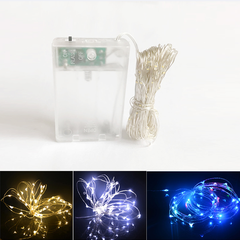 2m 5m10m Aa Battery Led String Light Powered Decoration Led For Wedding Christmas,party Garland Led Lights Outdoor Led Lighting Led String