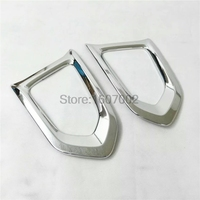 For Nissan Patrol Y62 2017 Front fog light cover Car accessories 2pcs