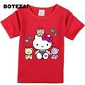 Европа и соединенные Штаты летом новый быстрая продажа дети с коротким рукавами футболки KITTY cat хлопок детская футболка