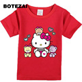 Europe and the United States summer new fast selling children short - sleeved T - shirt KITTY cat cotton children 's T - shirt