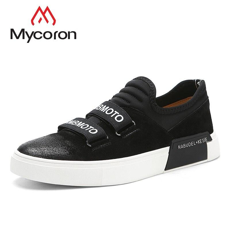 Und Lycra Flachen Weichen Schwarzes Gummiboden Männlichen Sneakers haut modemarke Freizeitschuhe grau Schwein Atmungsaktive Schuhe Mycoron Luxus Männer Casual xqXPII