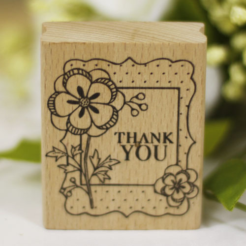 DIY thank you rubber wooden stamps for carimbo sstempel diy postcard or bookmark scrapbooking stamp 6*5cm free shipping
