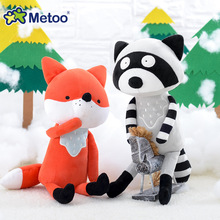 Metoo Doll Stuffed Toys Plush Animals Soft Kids Baby Toys for Girls Children Boys Birthday Gift Kawaii Cartoon Hot Fox koala 15cm new zealand white kiwi bird plush toys brown kiwi stuffed doll kawaii stuffed animals toys birthday gift 2pcs set