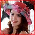 Elegante Cap Brim praia chapéu de sol de palha Floppy elegante Bohemia chapéu