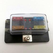 DC 12-32V 4 Way Car Vehicle Circuit Automotive Blade Fuse Box Block LED Indicator Warning Holder