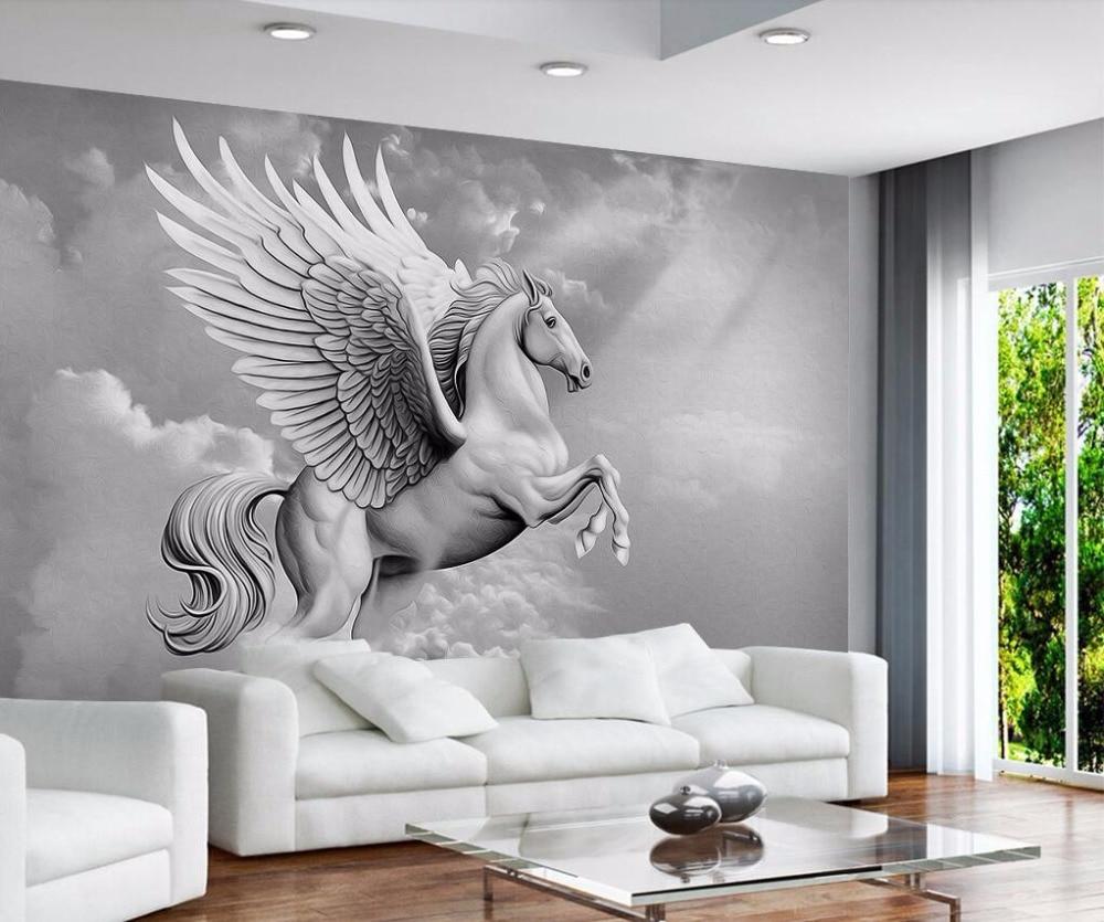 Beibehang Custom Wallpaper Home Decor Living Room Bedroom: Beibehang Custom Wallpaper European Atmosphere Pegasus