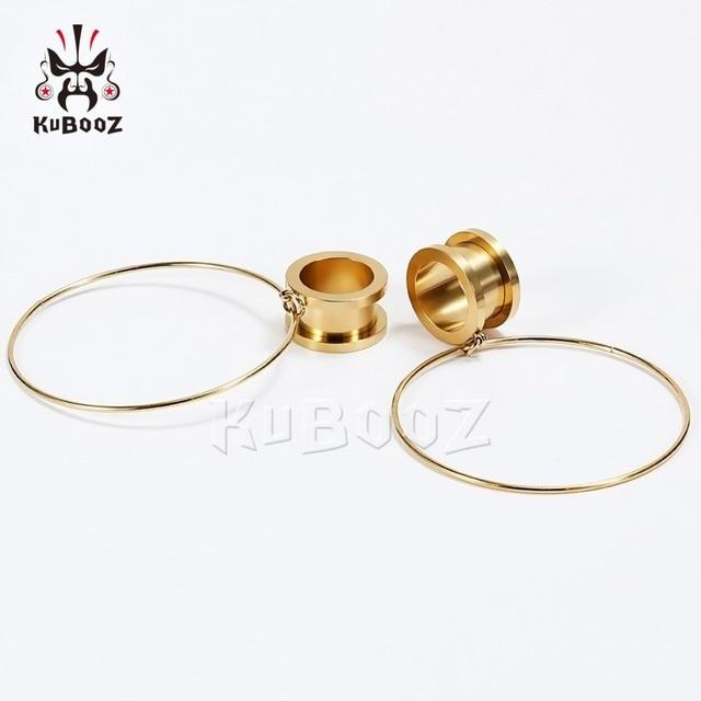 Kubooz кольцо пирсинг в ухо расширитель туннеля Висячие шпильки