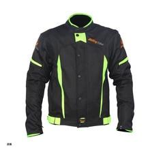 Мужская Летняя Куртка Мотоцикла Мотокроссу Безопасности Светоотражающий Слой Спортивной Защитное Снаряжение