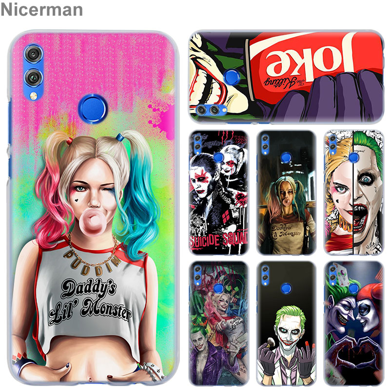 Harley Quinn Suicide Squad Joker Phone Case for Huawei <font><b>Honor</b></font> 8X 8A Pro 8C 8S <font><b>9</b></font> 10 <font><b>Lite</b></font> 20i <font><b>Honor</b></font> Play Y7 Y9 2019 Cover Case Coqu image