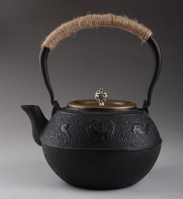 Cast Iron Teapot Set Japanese Tea Pot 1200ml Tetsubin Kettle Infuser