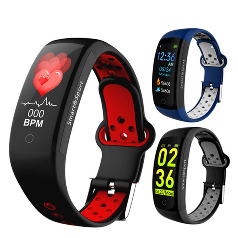Q6S Smart Bracelet Colors 3D dynamic Blood Pressure Heart Rate Monitor Smartband Wristband Waterproof Sports Fitness Watch BandQ6S Smart Bracelet Colors 3D dynamic Blood Pressure Heart Rate Monitor Smartband Wristband Waterproof Sports Fitness Watch Band
