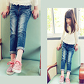 New Arrival Baby Girls autumn Denim Jeans Girls  Jeans High Quality Pure Jeans Kids girl Long Pants