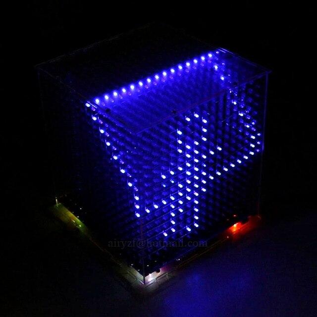 2016 Newest 3D16 mini Light cubeeds LED DIY KIT ,3D 16 16x16x16 electronic diy kit, LED Display parts,Christmas Gift,for TF card