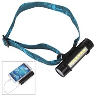 6 LED Charging Type 4 In 1 As Multifunctional LED Flashlight Torch Headlamp Mobile Power Bank