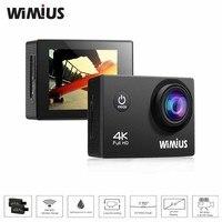 Wimius 2.0インチアクションカメラ4 kフルhd wifiミニビデオスポーツカム行く防水40メートルプロ170度広角dv +アクセサリー