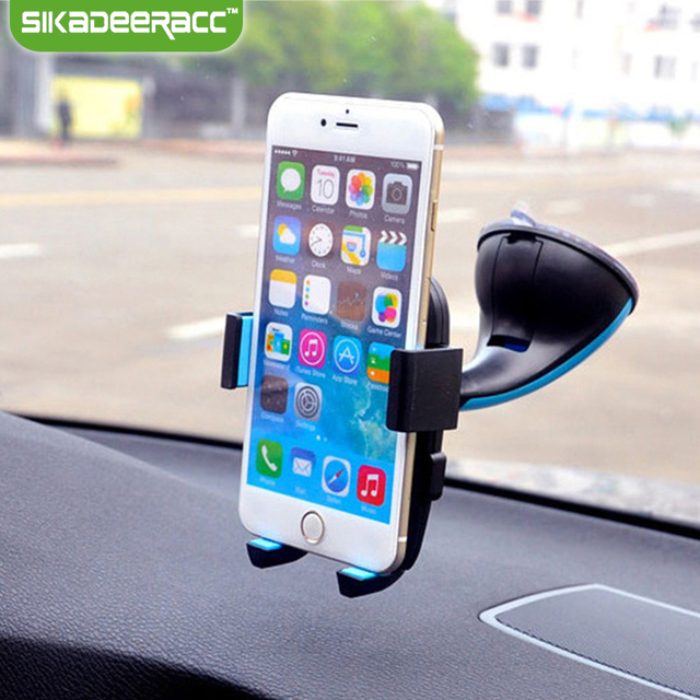 SC30 Universal Car Phone Holder Mount Windshield Sucker For iPhone 5 5s 6 6s Plus Samsung HTC Smartphones GPS Plastic Stand Dock